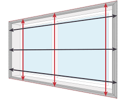 measure bottom up blinds outside the recess