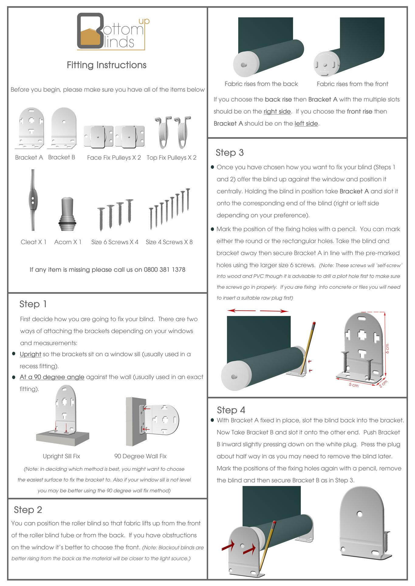 how to fit bottom up blinds page 1