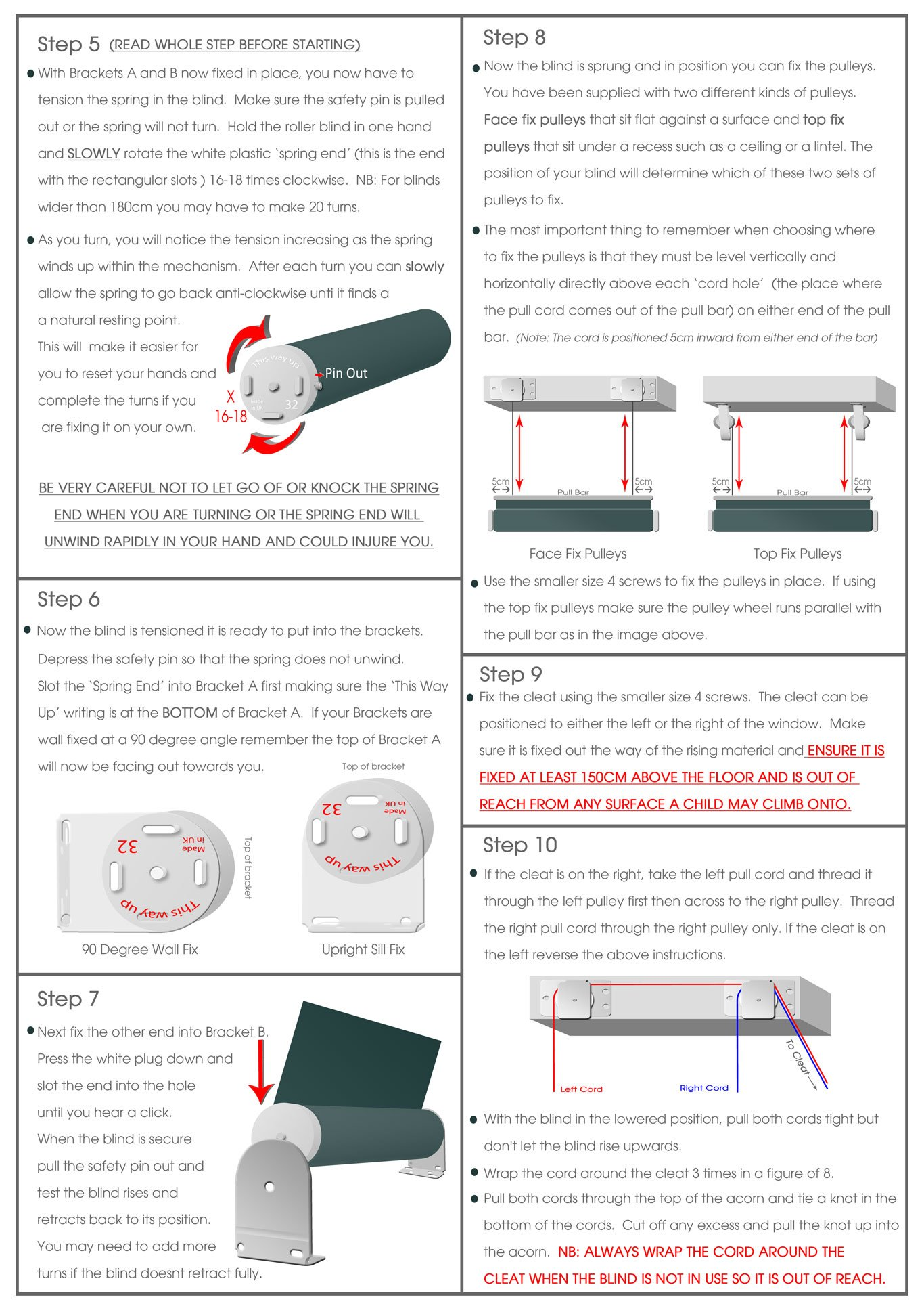 how to fit bottom up blinds page 2