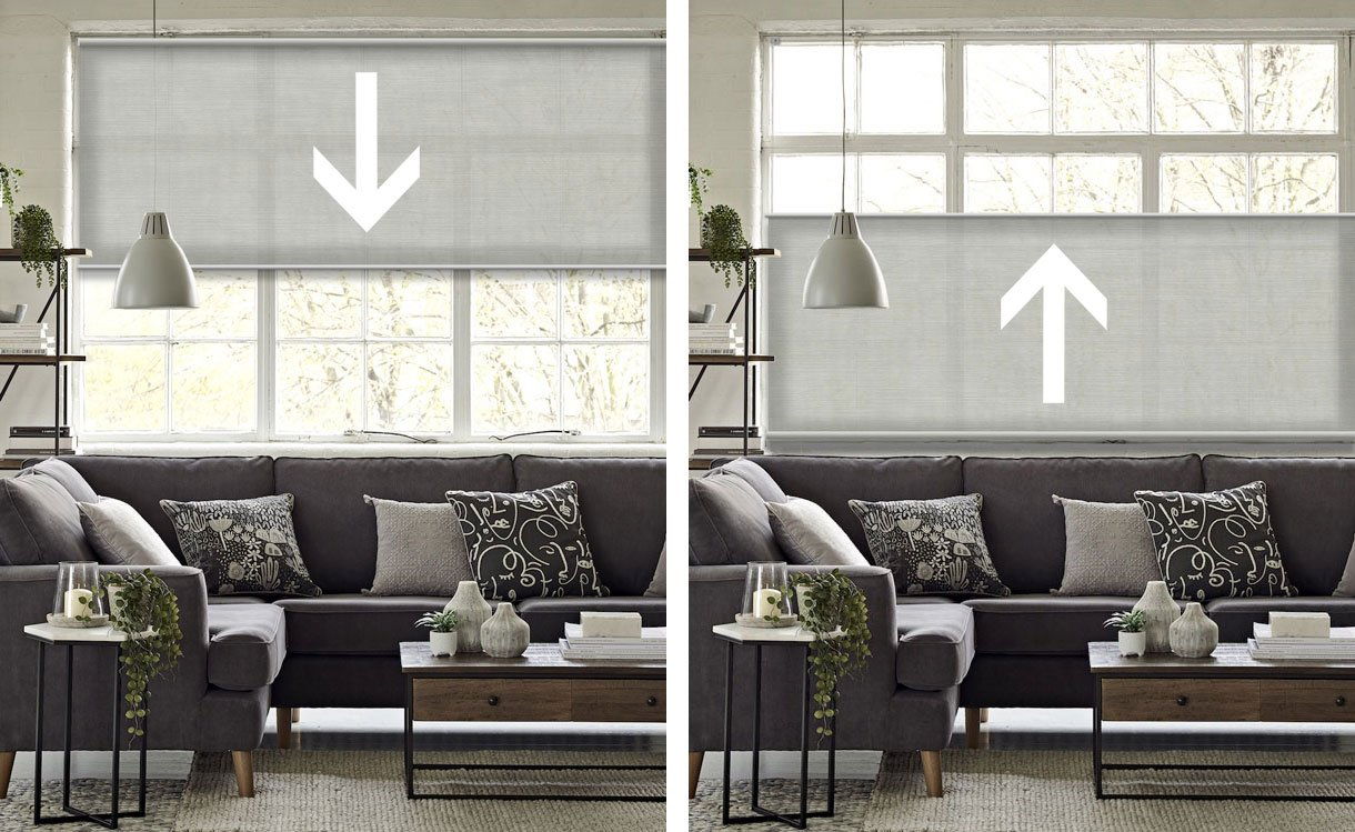 Bottom Up Blinds Reverse Upside Down Pull Up Blinds